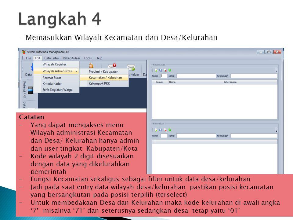 Langkah 9 UPDATE SISTEM APLIKASI SIM PKK Cara lain dengan: - Akses web simkk dan download versi terbarunya di http://simpkk.tp-pkkpusat.org http://simpkk.tp-pkkpusat.org -Copy file simdata.sql yg ada pada folder aplikasi -Paste dan replace pada folder sim pkk yg baru