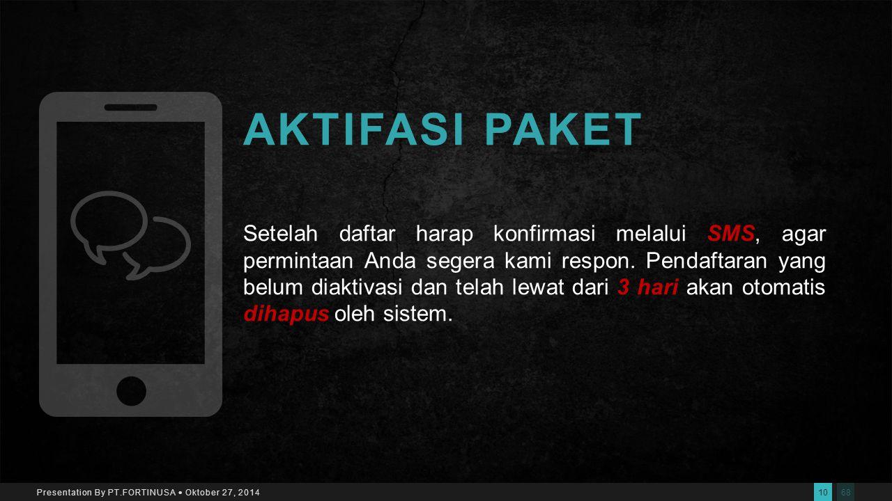689 Presentation By PT.FORTINUSA  Oktober 27, 2014 CARA REGISTRASI Silahkan login di www.visec.or.id kemudian klik menu Daftar di pojok kanan atas da
