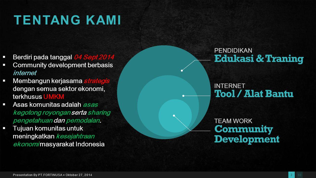 682 Presentation By PT.FORTINUSA  Oktober 27, 2014 Makassar Indonesia 0411-436879 www.visec.or.idsupport@visec.or.id VISEC OFFICE