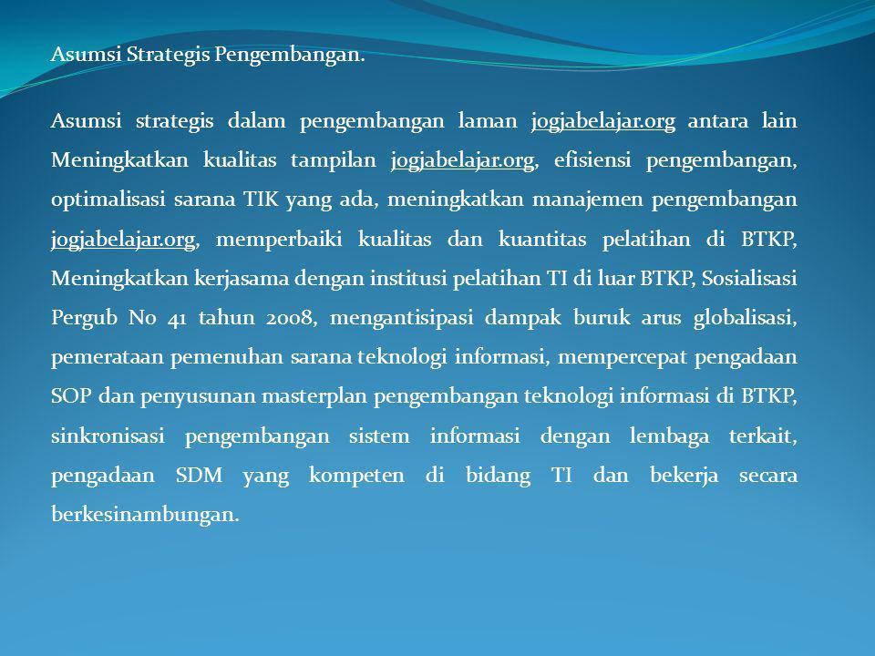 Asumsi Strategis Pengembangan.