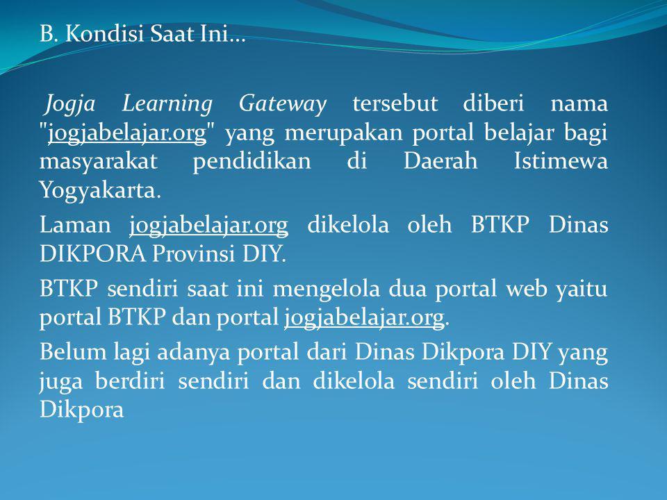 Laman jogjabelajar.org Laman jogjabelajar.org dikelola oleh BTKP Dinas DIKPORA Provinsi DIY.