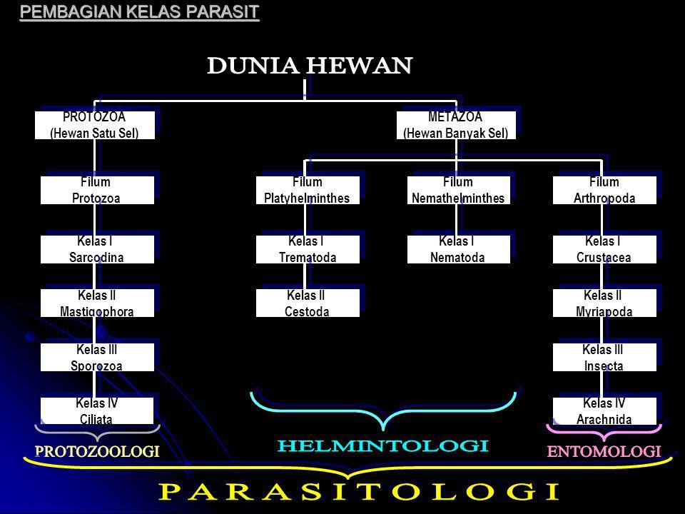 PARASIT & PARASITISME Parasitisme mencakup setiap hubungan timbal balik suatu species dgn species lain u/ kelangsungan hidupnya.