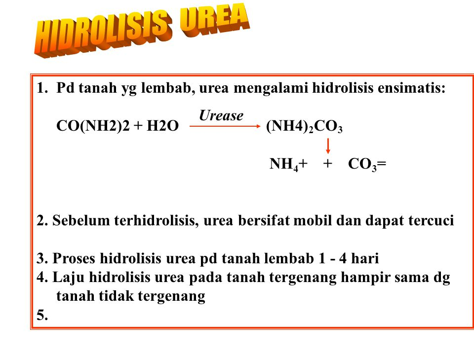 Pupuk nitrogen yang lazim digunakan: 1. Urea 2. ZA (Ammonium sulfat) 3. Ammonium nitrat 4. Anhydrous ammonia 4. Ammonium Fosfat