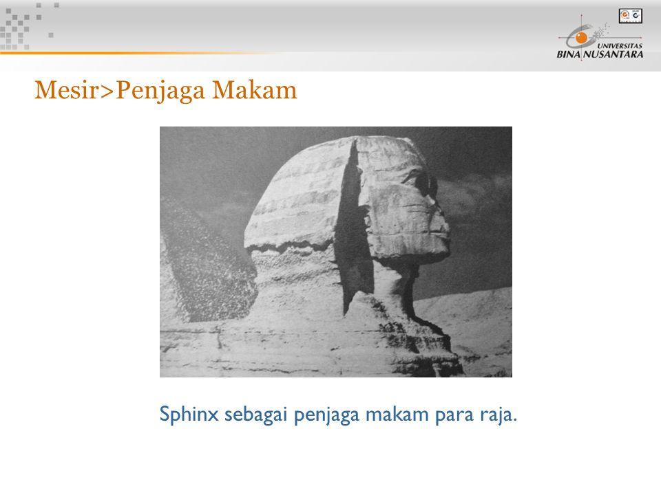 12 Sphinx sebagai penjaga makam para raja. Mesir>Penjaga Makam