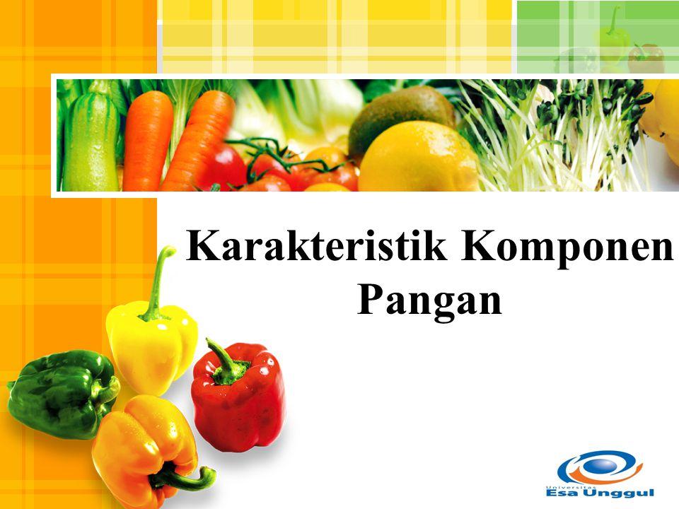 L/O/G/O Karakteristik Komponen Pangan
