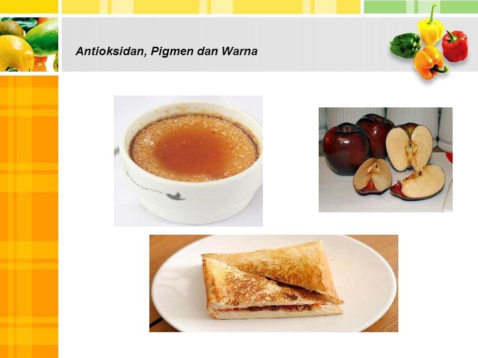 Antioksidan, Pigmen dan Warna