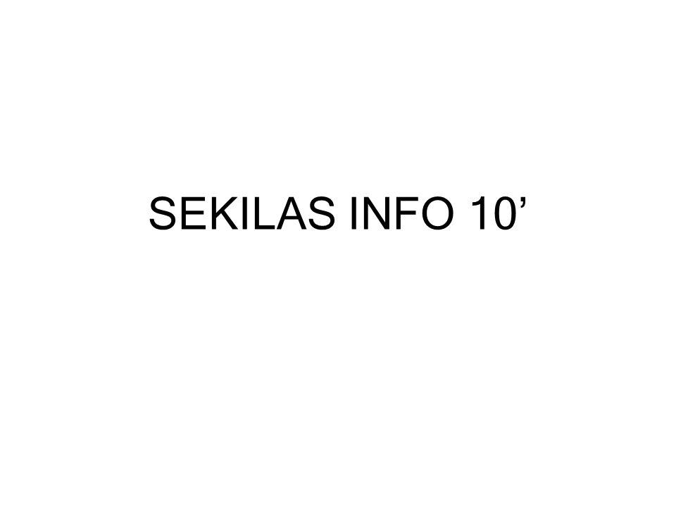 SEKILAS INFO 10'