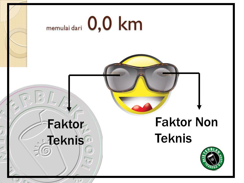 memulai dari 0,0 km memulai dari 0,0 km Faktor Teknis Faktor Non Teknis