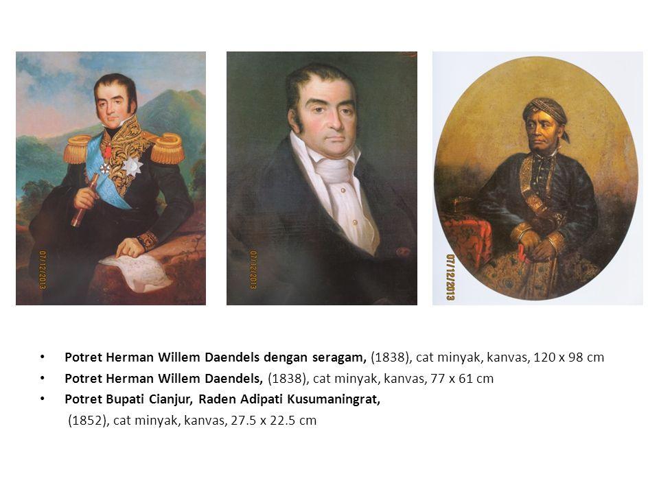 Potret Gubernur Jenderal Van Den Bosch, (1836), cat minyak, kanvas, 115 x 97 cm Potret Gubernur Jenderal Jean Chretien Baud, (1837), cat minyak, kanvas, 119.5 x 97.5 cm