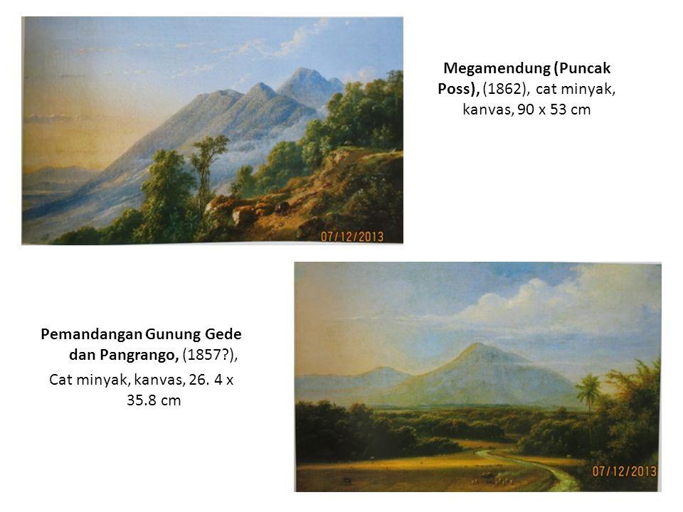 Jalan Melewati Megamendung (Pos Jawa), (1876), cat minyak, kanvas, 106 x 155 cm