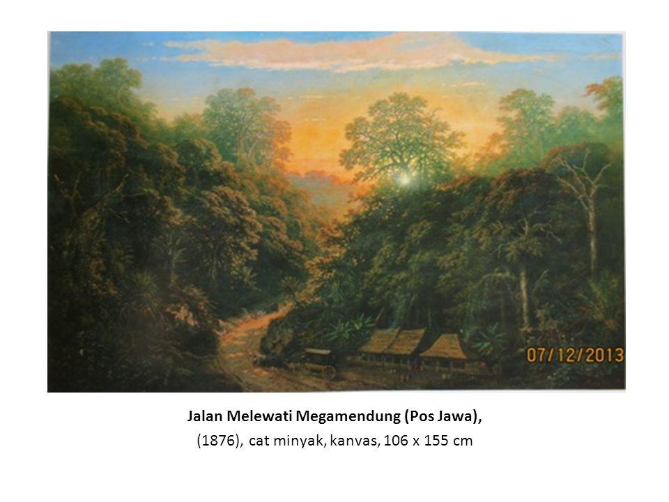 Merapi, Letusan pada Siang Hari, (1865), cat minyak, kanvas, 75 x 114 cm Merapi, Letusan pada Malam Hari, (1865), cat minyak, kanvas, 74 x 114 cm