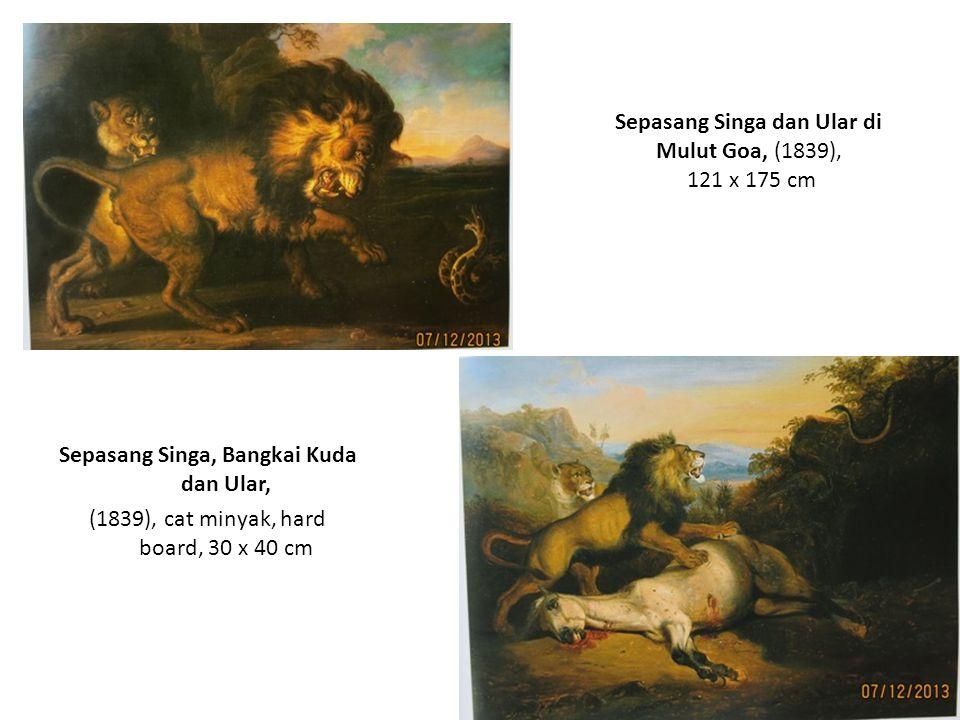 Perburuan Singa dengan Orang Badui, (1840), 42 x 57 cm Perburuan Singa, (1840), 85 x 140 cm