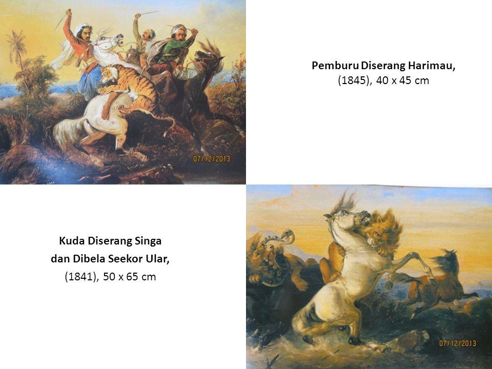 Penunggang Kuda Arab Diterkam Singa di Tepi Jurang, (1842), 154 x 168.5 cm Pelukan Terakhir, (1844), 33 x 51 cm