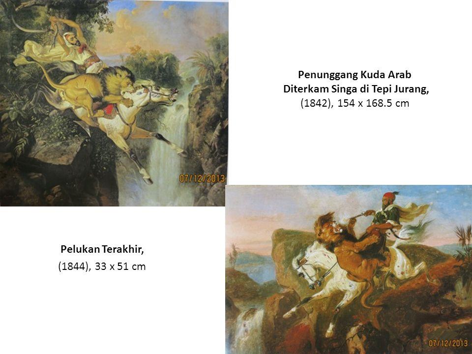 Penunggang Kuda Arab Diterkam Singa (1870), 265 x 193 cm