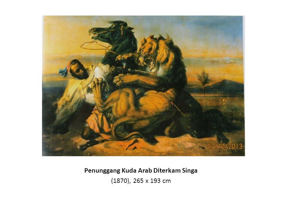 Mengintai (Pemandangan Jawa dengan Borobudur) (1849), 112 x 156.5 cm