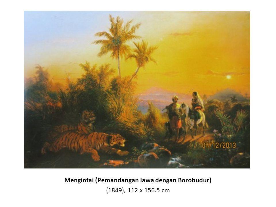 Banjir di Jawa (1863 – 1876), dilukis oleh Raden Saleh, litography oleh C.W. Mielin, 32 x 44 cm
