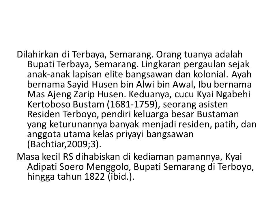 Pamannya ini disebut pula Kanjeng Terboyo Bustam, menantu Pangeran Ario Mangkunegoro I.