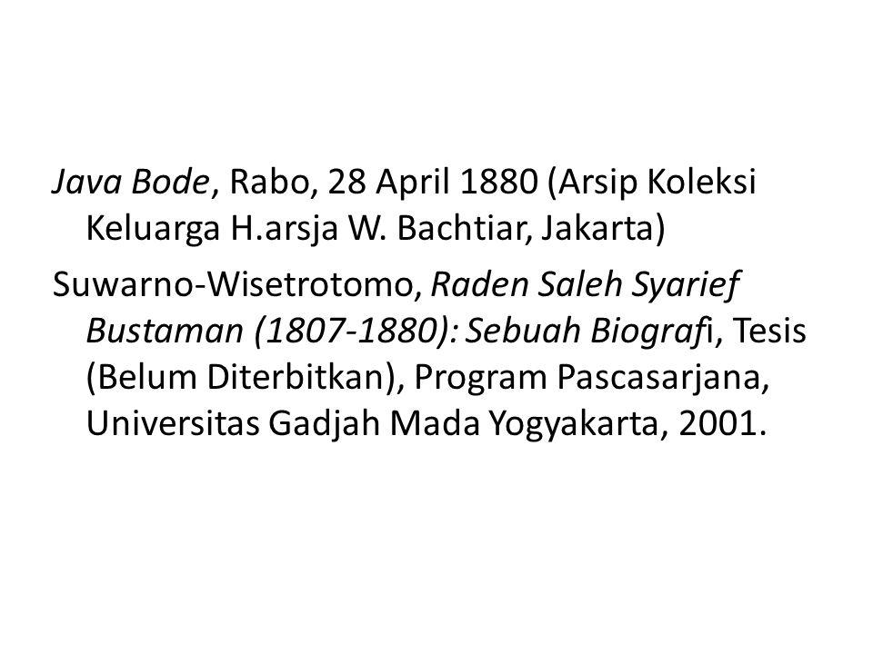 Java Bode, Rabo, 28 April 1880 (Arsip Koleksi Keluarga H.arsja W.