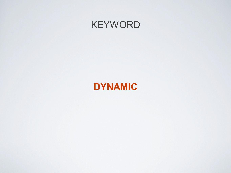 KEYWORD DYNAMIC