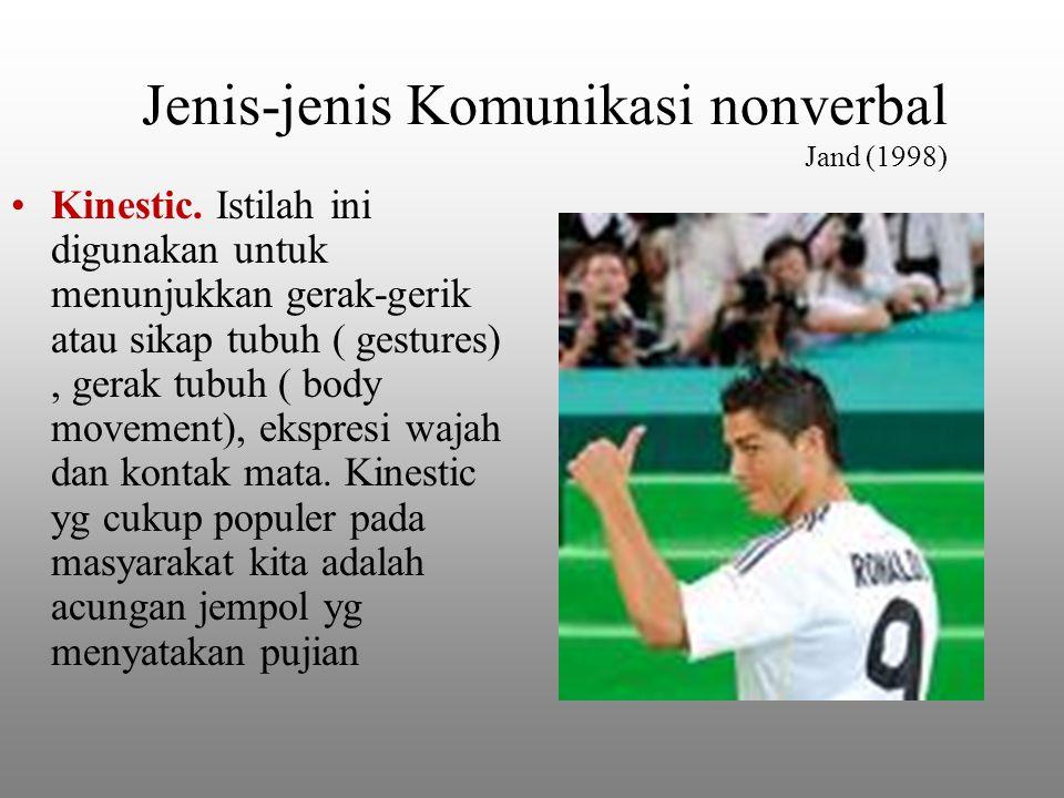 Jenis-jenis Komunikasi nonverbal Jand (1998) Kinestic.