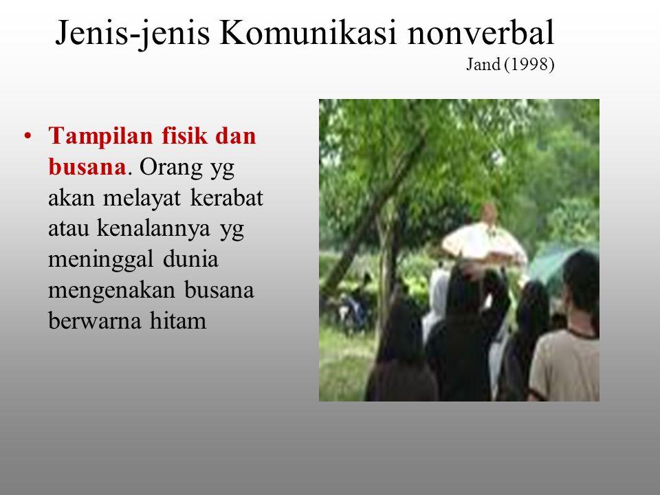 Jenis-jenis Komunikasi nonverbal Jand (1998) Tampilan fisik dan busana.
