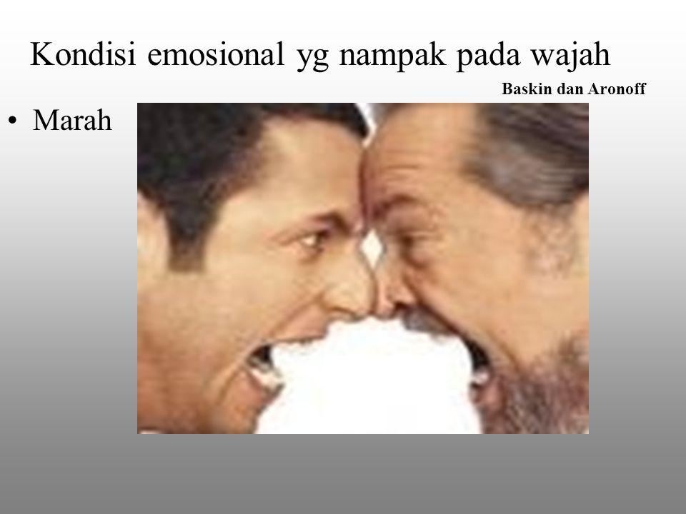 Kondisi emosional yg nampak pada wajah Baskin dan Aronoff Marah