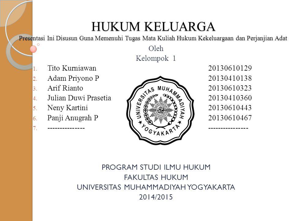 Oleh Kelompok 1 1. Tito Kurniawan20130610129 2. Adam Priyono P20130410138 3. Arif Rianto20130610323 4. Julian Duwi Prasetia20130410360 5. Neny Kartini