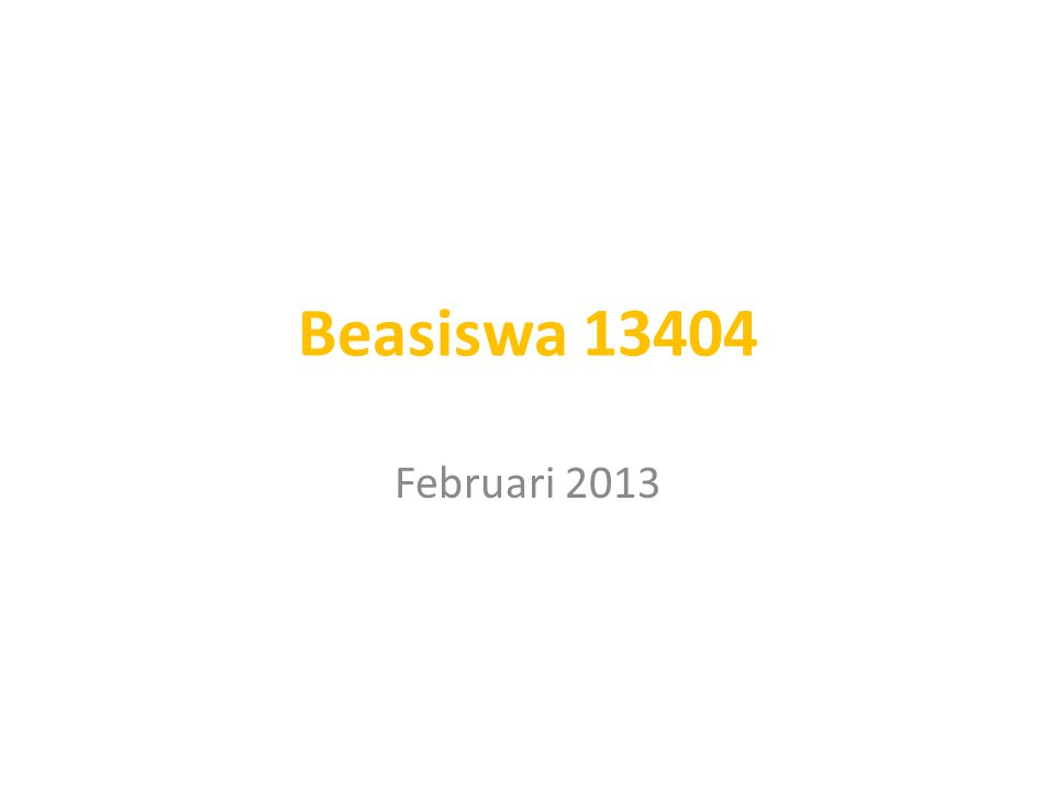 Februari 2013 Beasiswa 13404