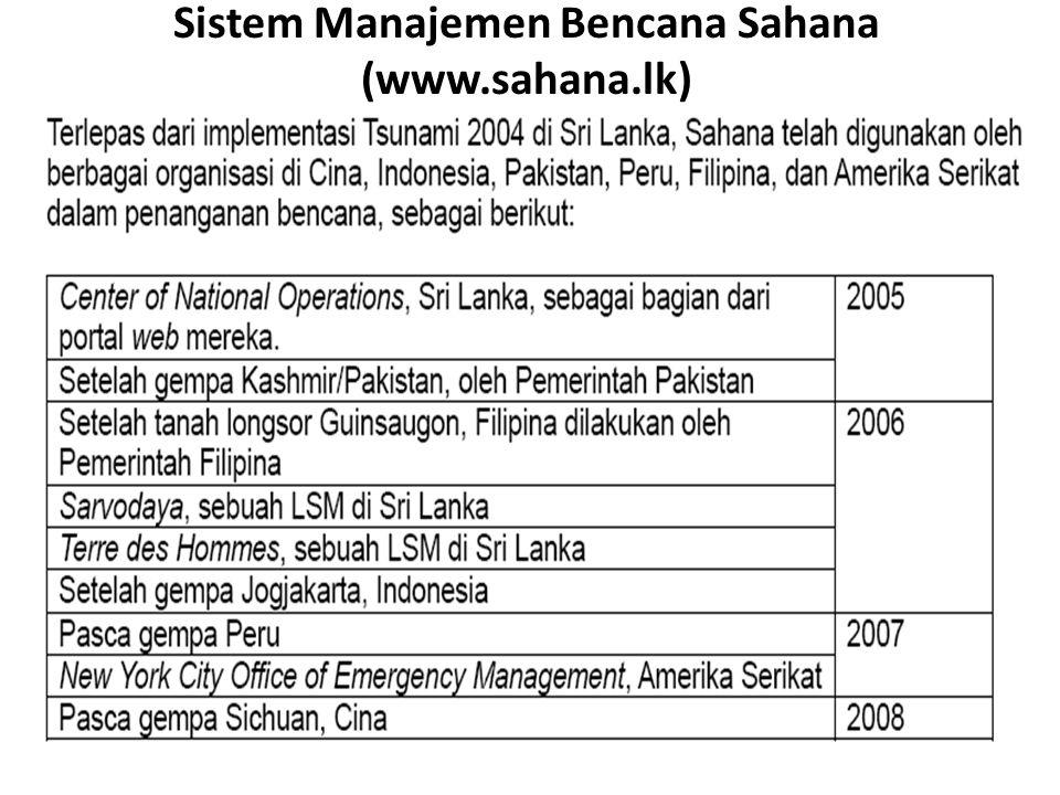 Sistem Manajemen Bencana Sahana (www.sahana.lk)