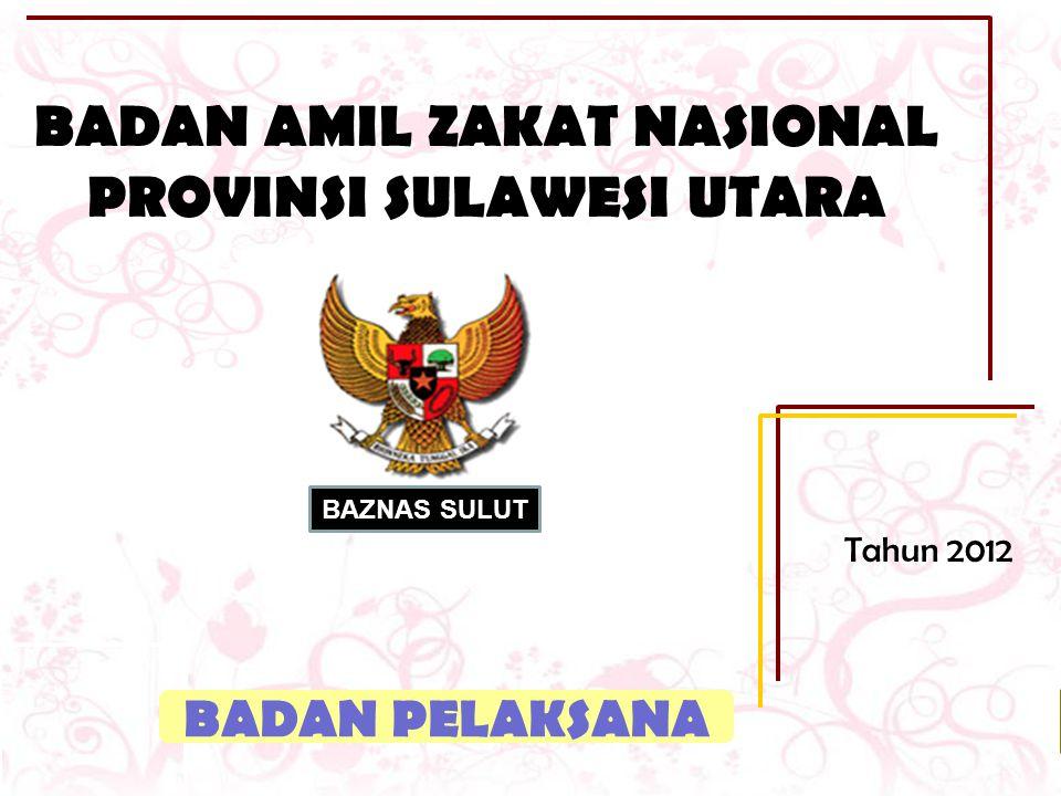 PENDAHULUAN LATAR BELAKANG Badan Amil Zakat Nasional Provinsi Sulawesi Utara ( BAZNAS SULUT ) merupakan lembaga pengelola Zakat, Infaq dan Shadaqah yang dibentuk oleh Pemerintah dan masyarakat Muslim yang berada di Provinsi Sulawesi Utara.