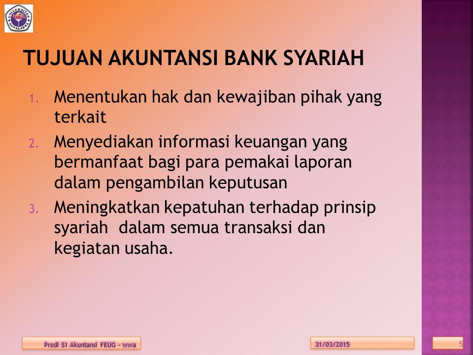 TUJUAN LAPORAN KEUANGAN BANK SYARIAH 1.Pengambilan putusan investasi dan pembiayaan.