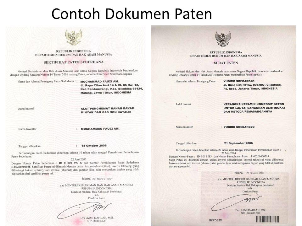 Contoh Dokumen Paten