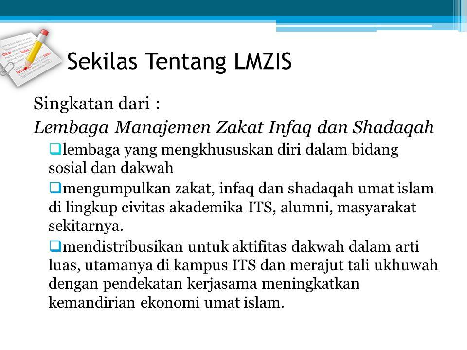 Singkatan dari : Lembaga Manajemen Zakat Infaq dan Shadaqah  lembaga yang mengkhususkan diri dalam bidang sosial dan dakwah  mengumpulkan zakat, inf