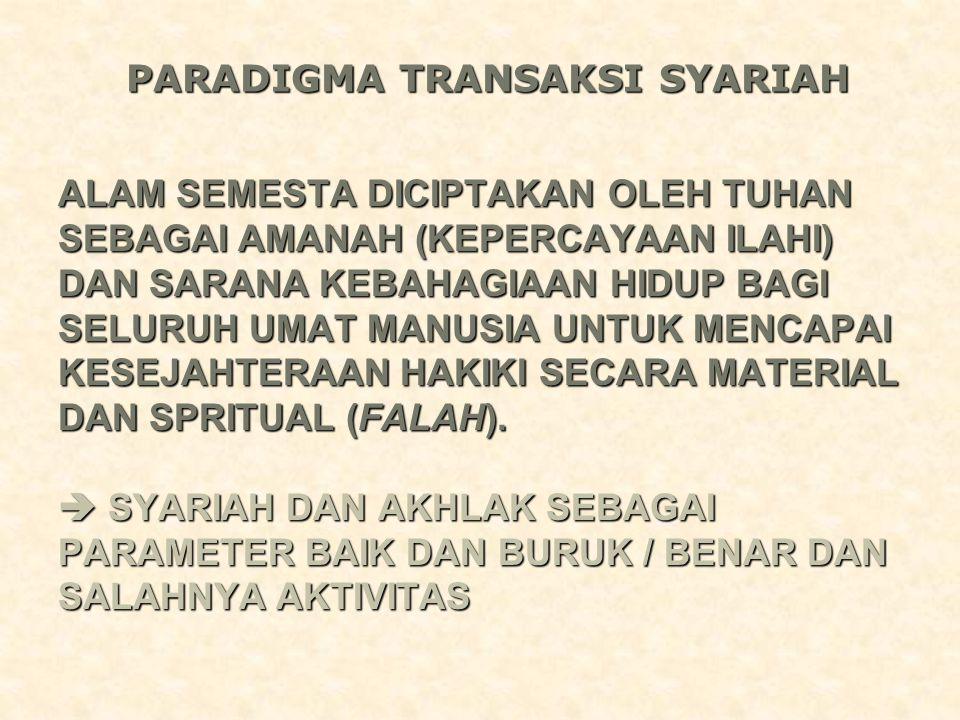 Asas Transaksi Syariah 1.