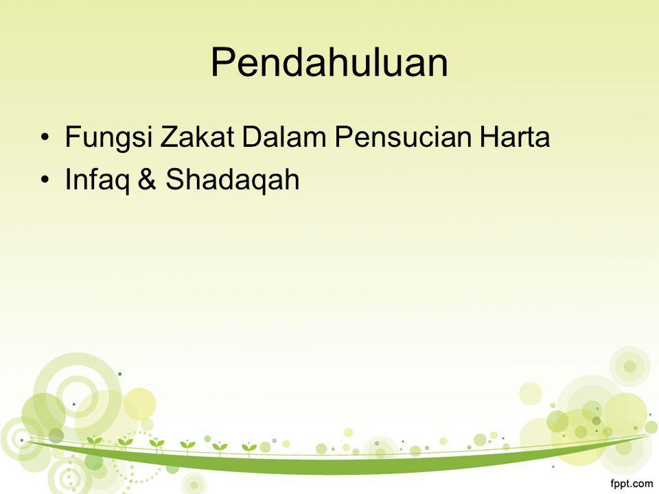 Fungsi Zakat Dalam Pensucian Harta Infaq & Shadaqah