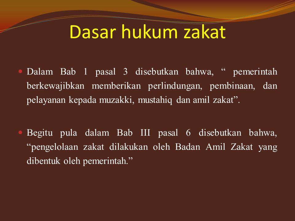 Sejarah zakat Zakat itu diwajibkan pada tahun ke-9 Hijrah, sementara shadaqah fitrah pada tahun ke-2 hijrah. Akan tetapi ahli hadist memandang zakat i