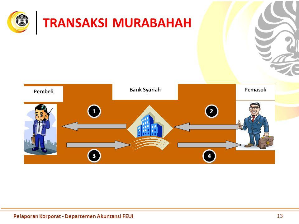 TRANSAKSI MURABAHAH 13 Pelaporan Korporat - Departemen Akuntansi FEUI
