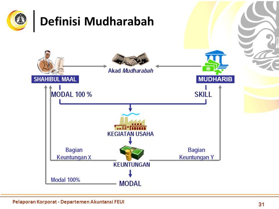 Definisi Mudharabah 31 Pelaporan Korporat - Departemen Akuntansi FEUI