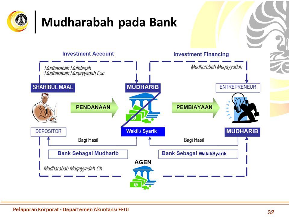 Mudharabah pada Bank 32 Pelaporan Korporat - Departemen Akuntansi FEUI