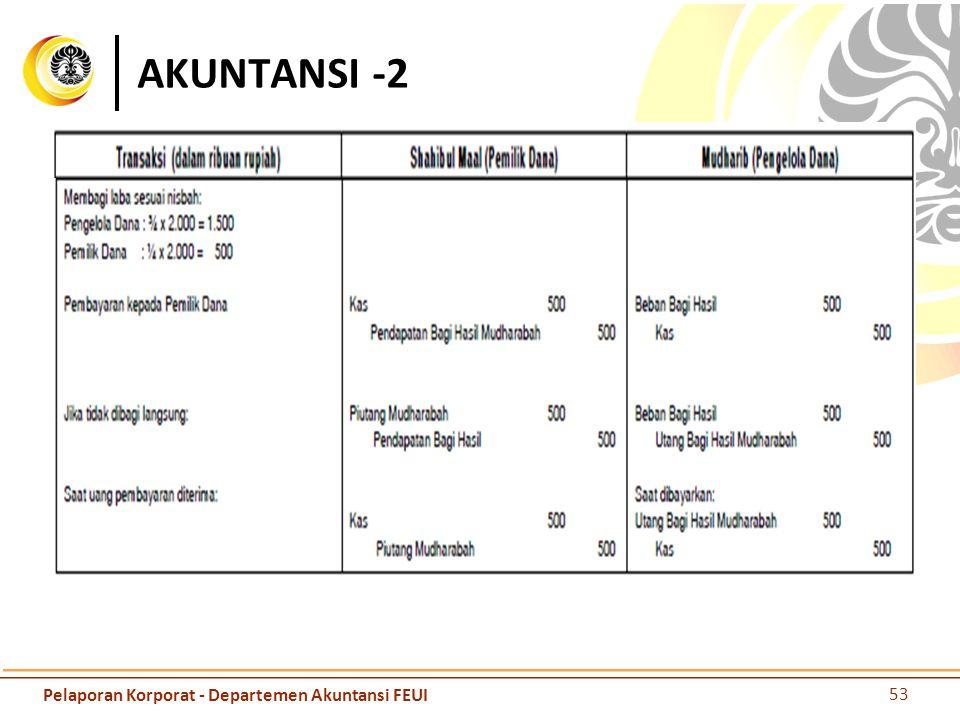 AKUNTANSI -2 53 Pelaporan Korporat - Departemen Akuntansi FEUI