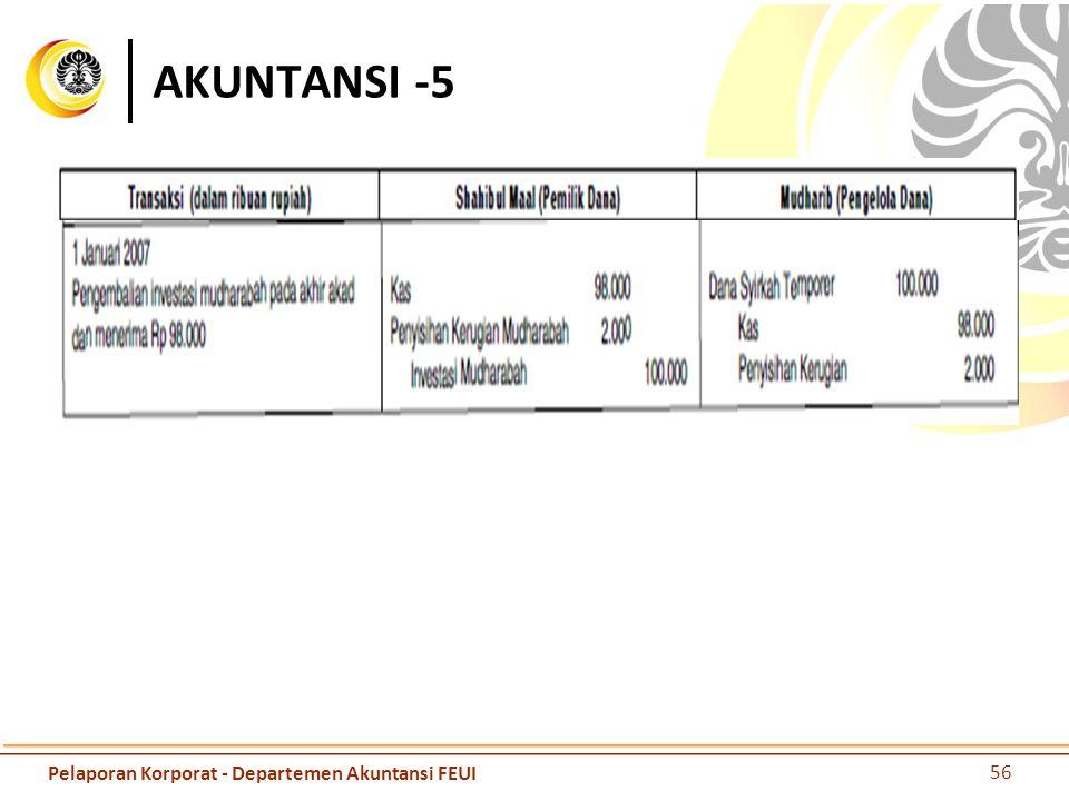 AKUNTANSI -5 56 Pelaporan Korporat - Departemen Akuntansi FEUI