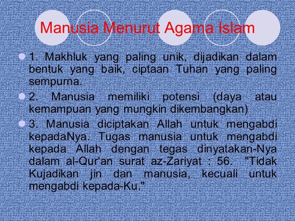 Manusia Menurut Agama Islam 1.