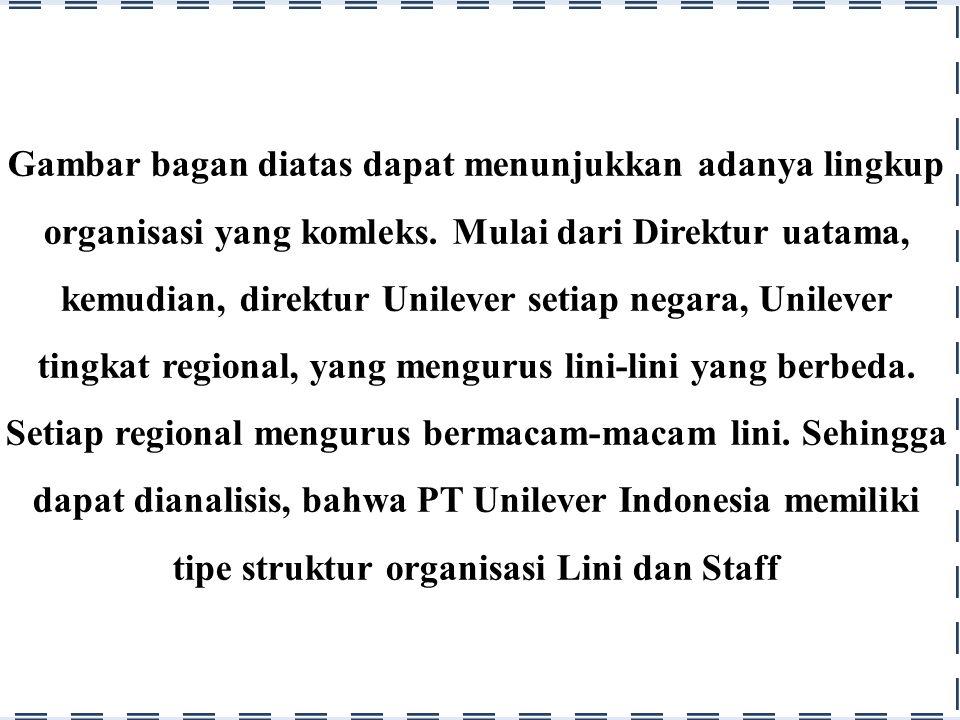 Analisis Bagan dan Struktur Organisasi Industri Makanan PT Unilever Indonesia