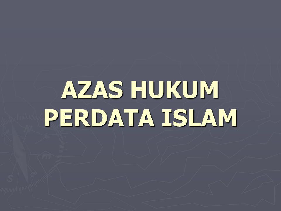 AZAS HUKUM PERDATA ISLAM