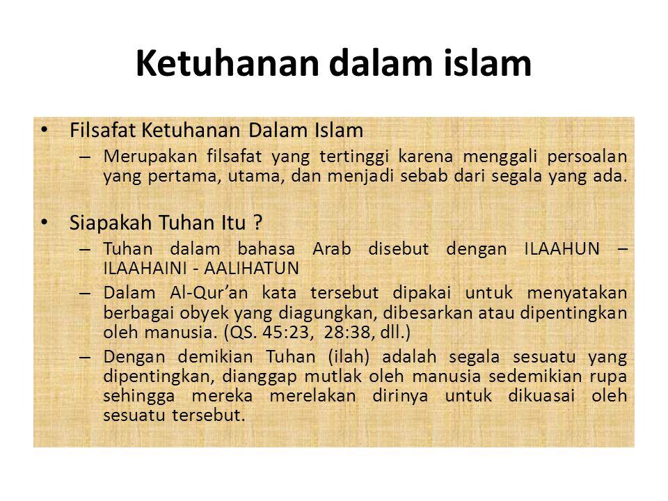 KONSEF KETUHANAN DALAM ISLAM BY; FIRNAWIDA,M.Pd.I