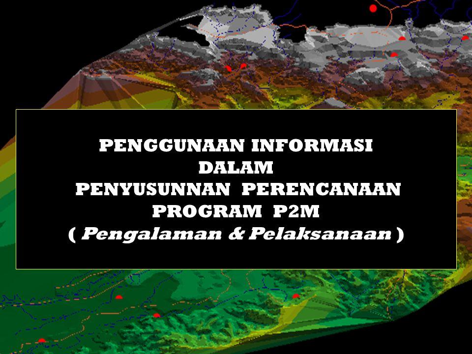 PENGGUNAAN INFORMASI DALAM PENYUSUNNAN PERENCANAAN PROGRAM P2M ( Pengalaman & Pelaksanaan )