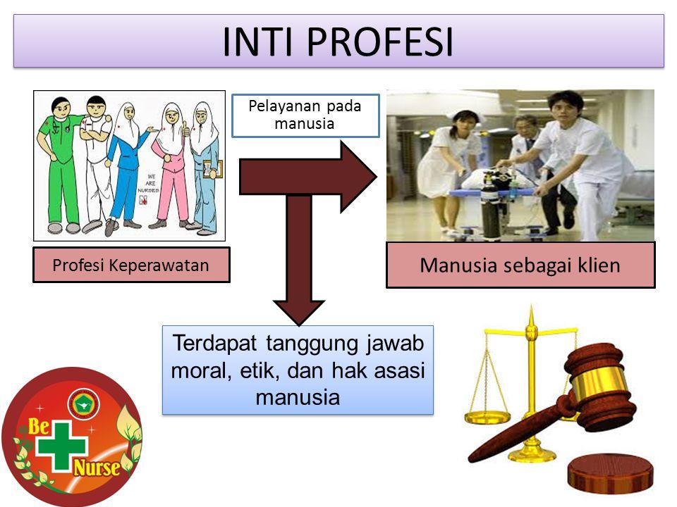 MEMBERIKAN JAMINAN PELAYANAN YANG BERMUTU DAN AMAN Dikawal dengan Perundang- undangan yang mengatur praktik keperawatan Standar profesi dan praktik Kode etik UU No.