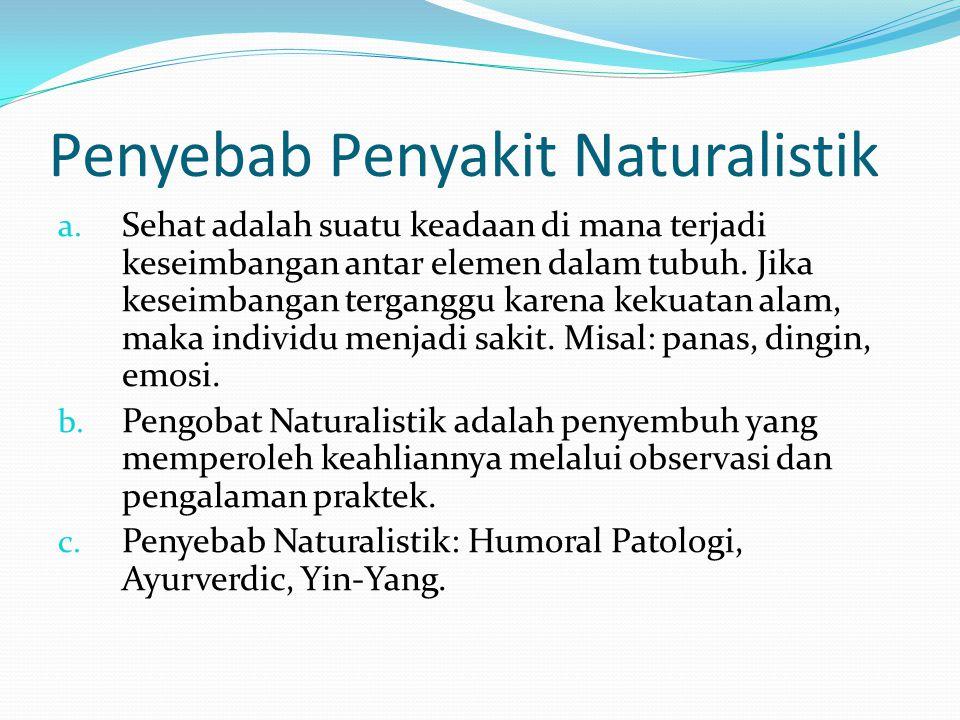 Penyebab Penyakit Naturalistik a.