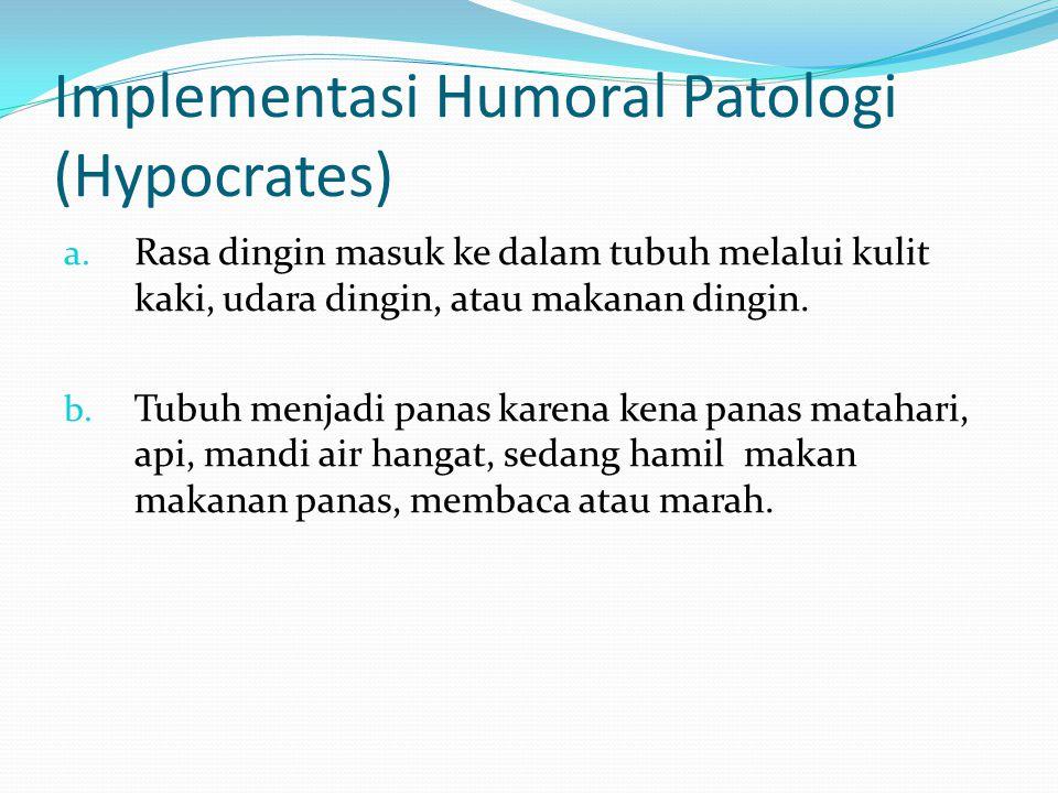 Implementasi Humoral Patologi (Hypocrates) a.