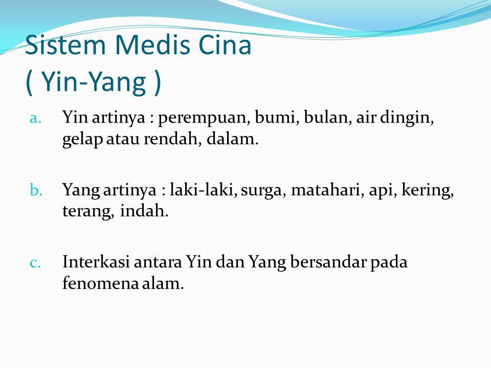 Sistem Medis Cina ( Yin-Yang ) a.
